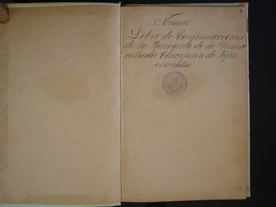 Libro de confirmaciones No. 4