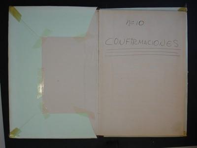 Libro de confirmaciones No. 10