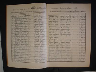 Cuadernillo de confirmaciones Coatepec Costales