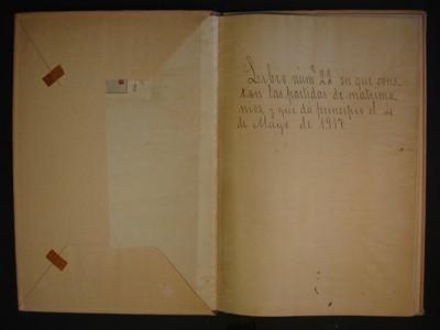 Libro de actas de matrimonios No. 22