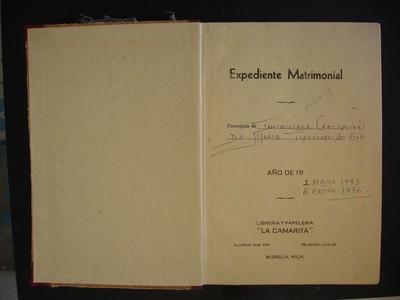 Libro de matrimonios No. 13