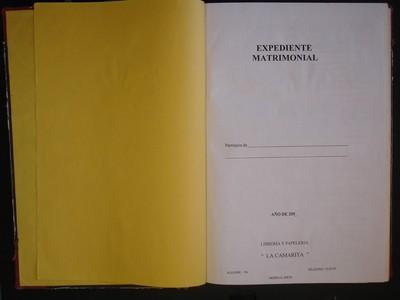 Libro de matrimonios No. 16
