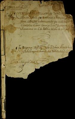 Libro Cabildo 3371 de la sección Administración Pecuniaria serie Colecturia-Capellanías y aniversarios