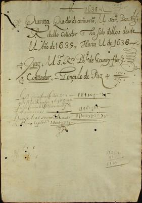 Libro Cabildo 3372 de la sección Administración Pecuniaria serie Colecturia-Capellanías y aniversarios
