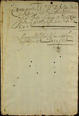 Libro Cabildo 3374 de la sección Administración Pecuniaria serie Colecturia-Capellanías y aniversarios