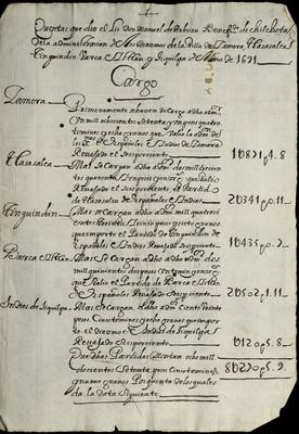 Libro Cabildo 4193 de la sección Administración Pecuniaria serie Colecturia-Diezmos (Zamora)