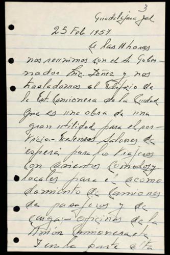 Transcripciones de las memorias del general Lázaro Cárdenas: 1957 III