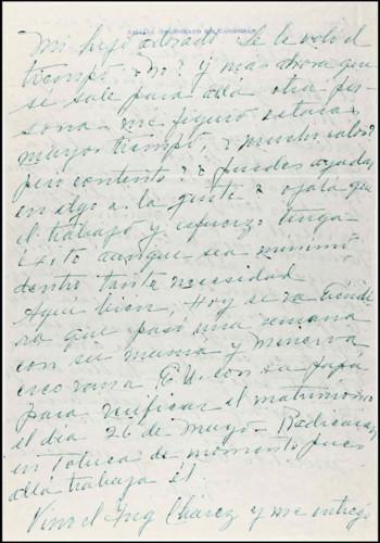 Vida personal del general Lázaro Cárdenas: Documentos personales de Amalia I.