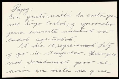 Vida personal del general Lázaro Cárdenas: Documentos personales de Alicia
