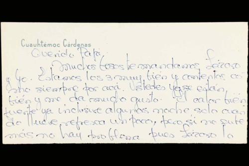 Vida personal del general Lázaro Cárdenas: Documentos personales de Celeste