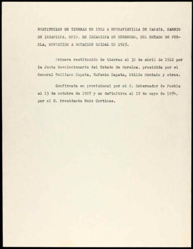 Vida personal del general Lázaro Cárdenas: Restitución de tierras
