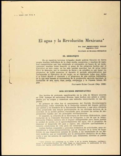 El agua y la Revolución Mexicana.