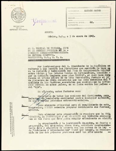 """Vida laboral del general Lázaro Cárdenas: Directivas para el Plan """"Mexus"""""""