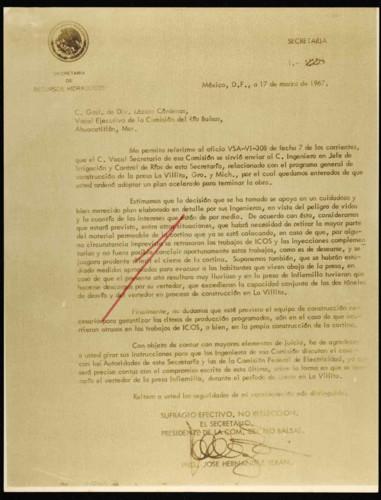 Vida laboral del general Lázaro Cárdenas: Adopción de un nuevo plan de trabajo para La Villita