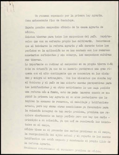 Vida laboral del general Lázaro Cárdenas: Antecedentes y problemas de la implementación de la Reforma Agraria