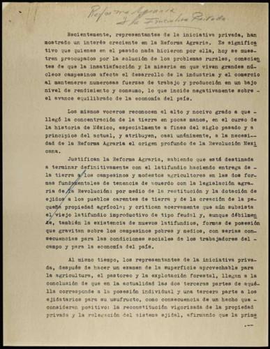 Vida laboral del general Lázaro Cárdenas: Reforma Agraria y la iniciativa privada