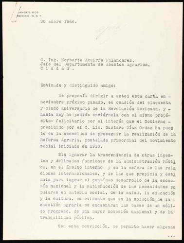 Vida política del general Lázaro Cárdenas del Río: 55 Aniversarios de la Revolución Mexicana y Reforma Agraria
