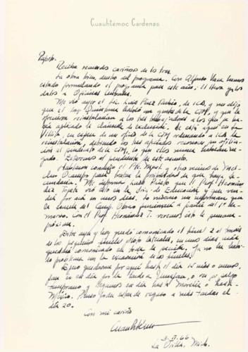 Vida laboral del ingeniero Cuauhtémoc Cárdenas Solórzano: formulación del programa de trabajo de 1966