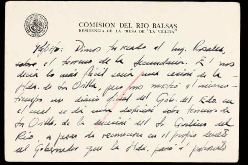 Vida laboral del ingeniero Cuauhtémoc Cárdenas Solórzano. Comentario sobre los terrenos para una secundaria.