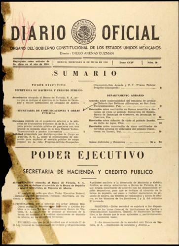 Diario Oficial Órgano del Gobierno Constitucional de los Estados Unidos Mexicanos.