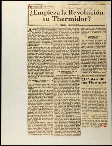 ¿Empieza la Revolución su Thermidor?
