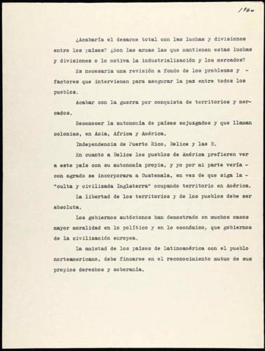 Transcripciones de las memorias del general Lázaro Cárdenas: Caso internacional México-Guatemala sobre Belice