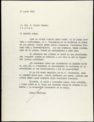 Transcripciones de las memorias del general Lázaro Cárdenas: 1962