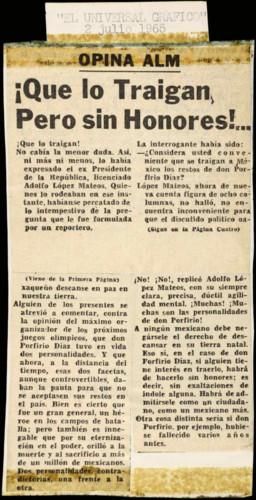 Transcripciones de las memorias del general Lázaro Cárdenas: 1961-1965
