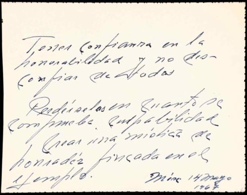 Memorias del general Lázaro Cárdenas: 1967