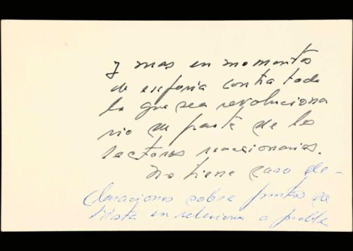 Memorias del general Lázaro Cárdenas: Varios apuntes. Sin fecha