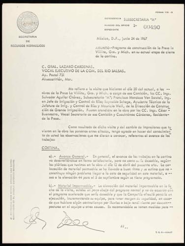 Vida laboral del general Lázaro Cárdenas: Etapa de cierre de la cortina de la Presa La Villita