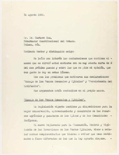 Vida laboral del general Lázaro Cárdenas: Fondos comunales y latifundio