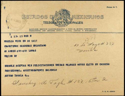 Vida laboral del general Lázaro Cárdenas: Memorándum relativo a la Compañía de Minas de Fierro Las Truchas