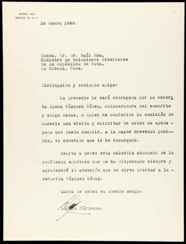 Vida personal del general Lázaro Cárdenas: Reflexión de conveniencia para eximir la pena capital en Cuba