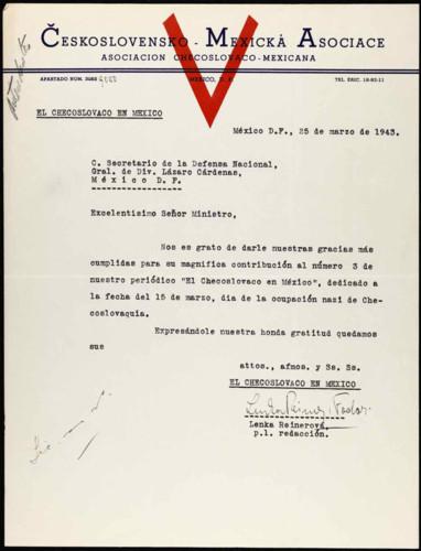 Vida laboral del general Lázaro Cárdenas: Asociación Checoslovaco-Mexicana