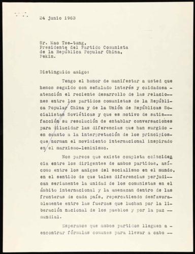 Vida personal del general Lázaro Cárdenas: Interés por las diferencias entre los partidos comunistas de China y la URSS. I
