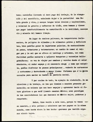Vida personal del general Lázaro Cárdenas: Ayuda a los pobres e inauguración de la Plaza de Arteaga