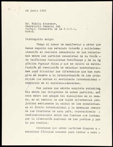 Vida laboral del general Lázaro Cárdenas: Interés por las diferencias entre los partidos comunistas de China y la URSS II