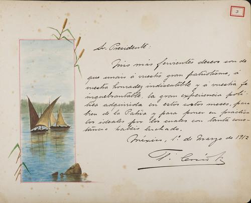 Lámina de T. Cosío para Francisco I. Madero (atribuido)