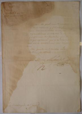 Correspondencia del subdelegado de Taxco