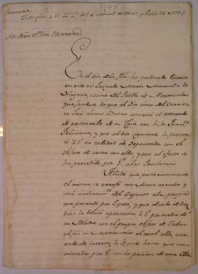 Orden de regresar a una muchacha raptada, dirigida a José Herrera, Real de Minas de Taxco