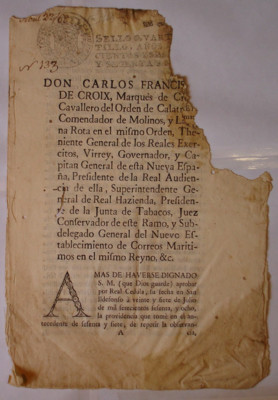 Bando de cédula real que confirma la del 5 de abril de 1764, sobre que los encargados de la justicia secular pueden y deben perseguir a los reos en cualquier parte y extraerlos de los lugares sagrados en donde se hayan refugiado asegurándolos en las cárce