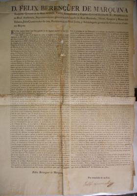 Bando de cédula real que manda se observe y guarde la del 18 de agosto de 1771 que da por inválidas las herencias de moribundos en las que, directa o indirectamente, resulte favorecido el confesor, pariente de este, su iglesia o convento, virrey Félix Ber