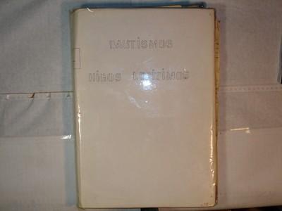 Libro de Bautizos num. 93