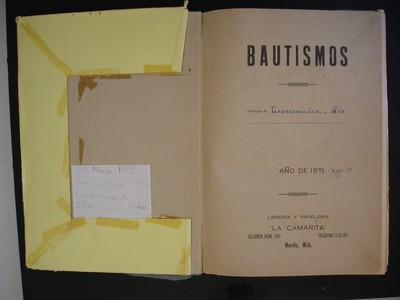 Libro de bautismos de hijos legítimos No. 77