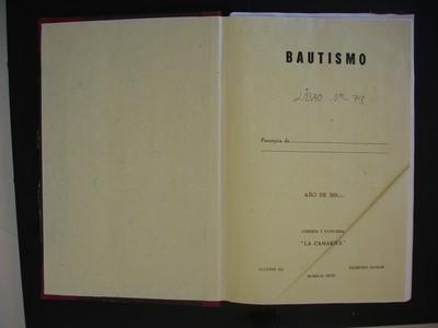 Libro de bautismos de hijos legítimos No. 79