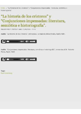 Conjunciones impensadas: literatura, semiótica e historiografía