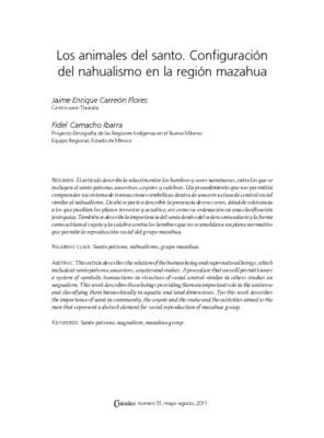 Los animales del santo. Configuración del nahualismo en la región mazahua