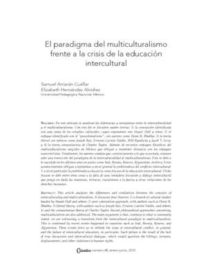 El paradigma del multiculturalismo frente a la crisis de la educación intercultural