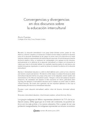 Convergencias y divergencias en dos discursos sobre la educación intercultural
